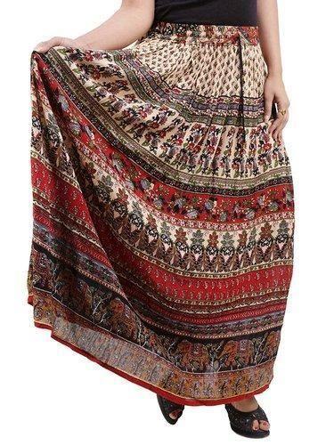 Ladies Bagru Print Skirts
