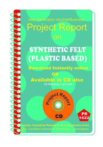 Synthetic Felt (Plastic Based) manufacturing eBook