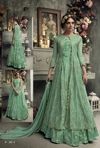 Bulk order 304 green gown style salwar kameez for wedding
