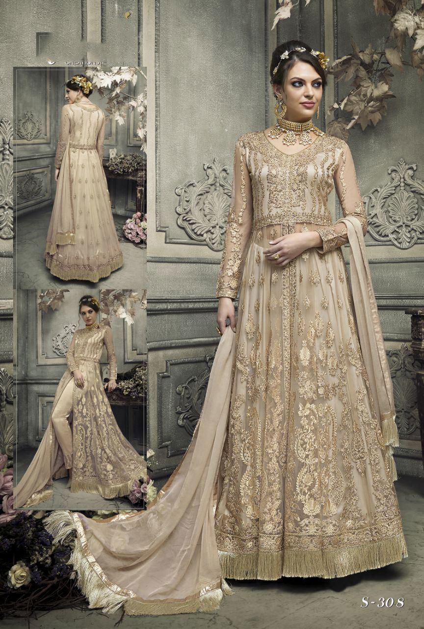 bulk order sybella 304 green gown style salwar kameez for wedding