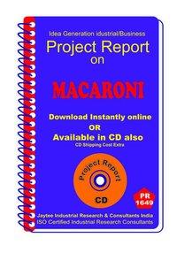 Macaroni manufacturing Project Report eBook