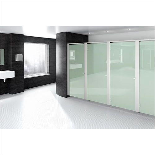 Glass Door Toilet Cubicle