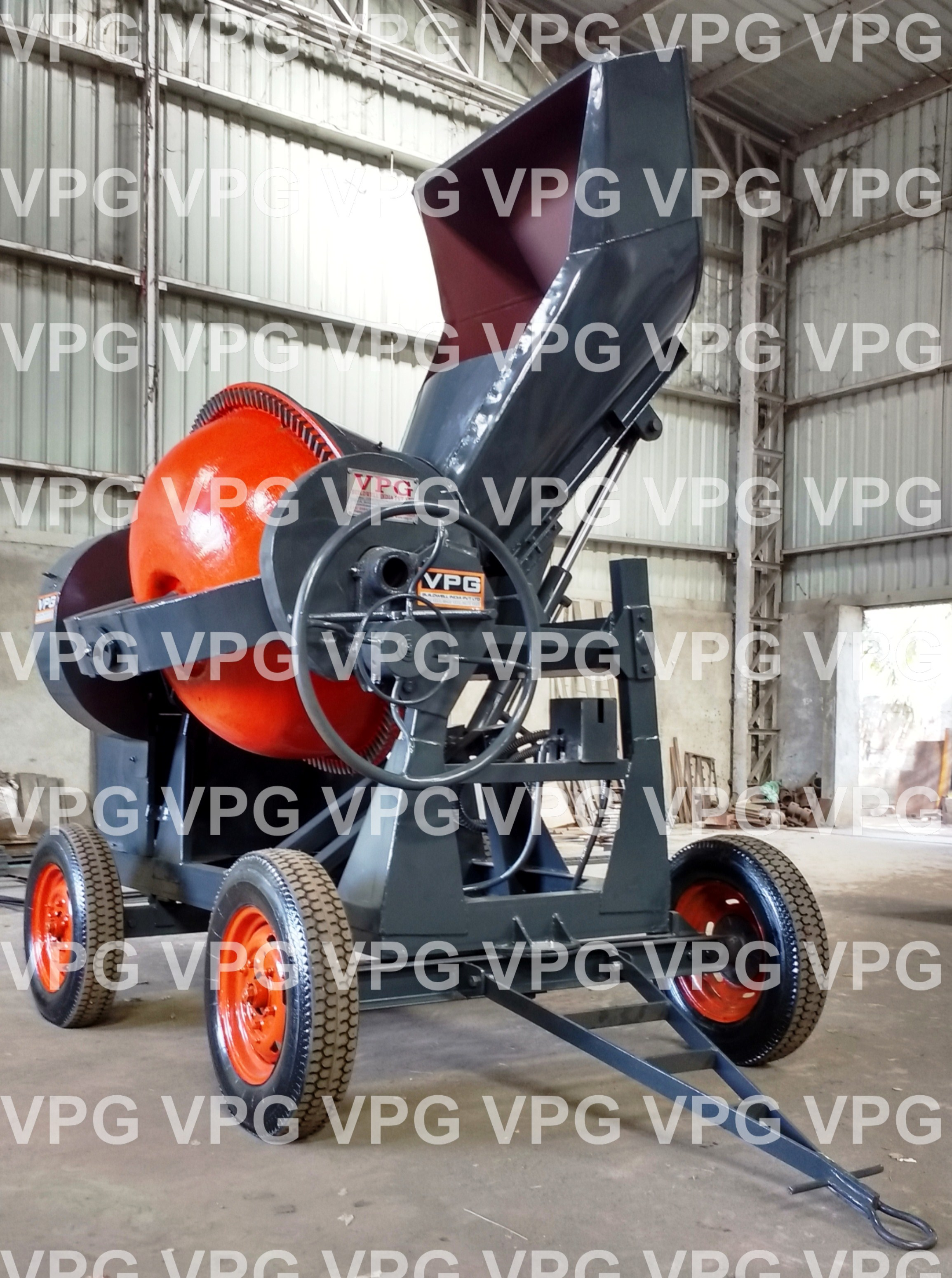 Reversible Drum Concrete Mixer With Weighment System