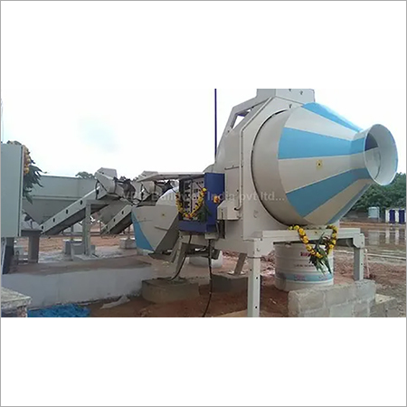 Mobil batching concrete mixer machine