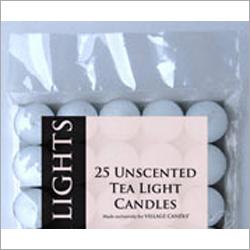 25 Unscented Tea Light Candle
