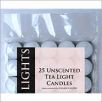 25 Unscented Tea Light Candle