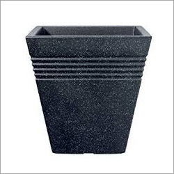 Black Granite Square Pot