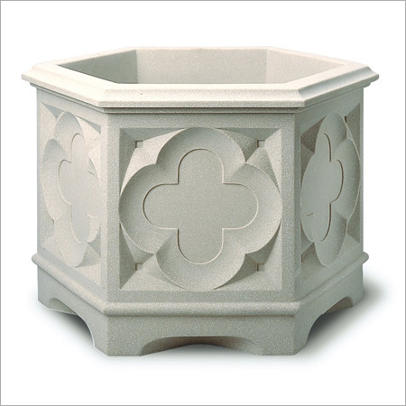 Hexagonal Sand Stone Flower Pot