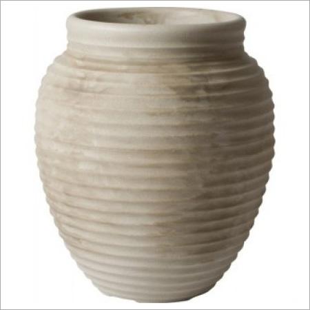 Ivory Granite Rough Flower Pot