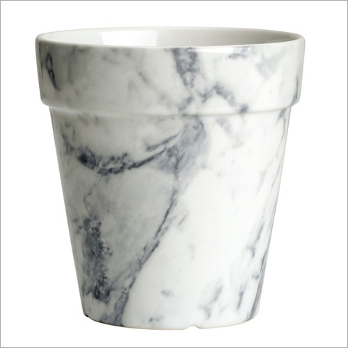 White Marble Plain Pot