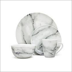 Marble Bowl Plates And Cup