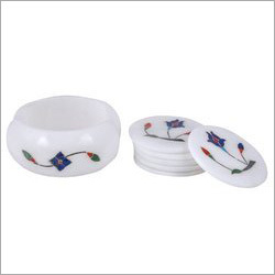 Marble Inlay Tea Coaster