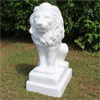 Sitting Lion Marble Garden Ornament