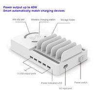 smart wireless and muti USB charger