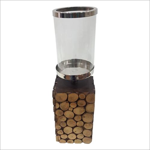 Wooden Base  Candle Holder