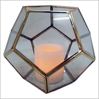 Geometric Glass Candle Lantern