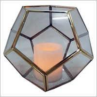 Geometric Glass Candle Lantern