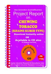 Chewing Tobacco (Khaine Kuber Type) Project Report eBooK