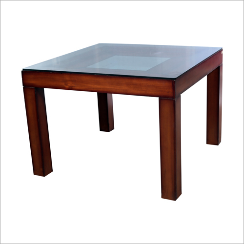 Glass Top Square Center Table
