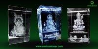 3d Laser Crystal Ganesha