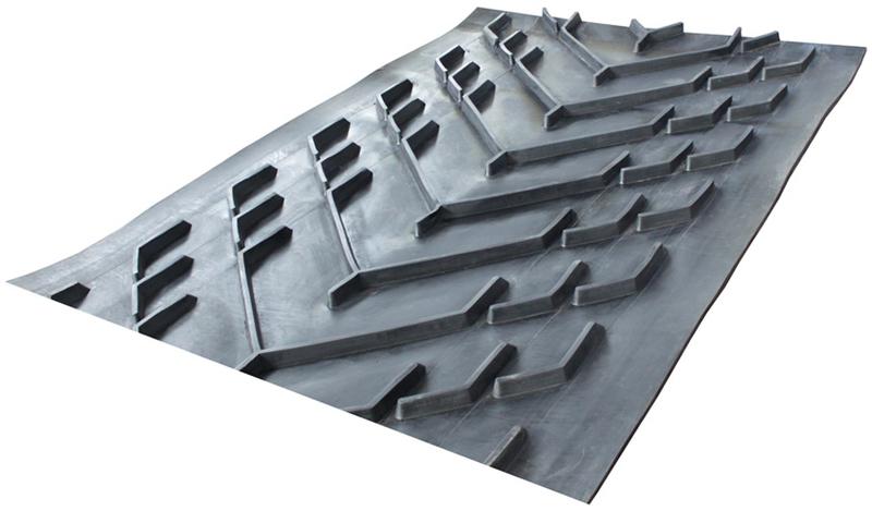 chevron cleated conveyor belt