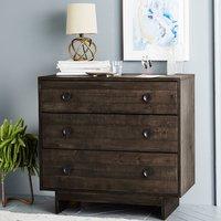 Reclaimed Wood 6 Drawer Dresser Natural Cabinet, Sideboard