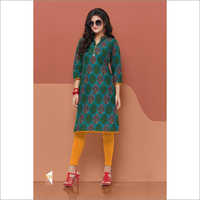 Blue Circle Designer Kurties