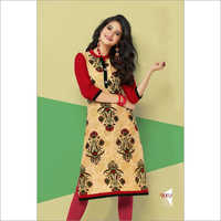Maroon Embroidered Kurties
