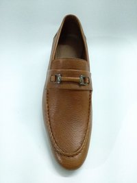 TAN COLOUR LEATHER LOAFER FOR  MEN'S