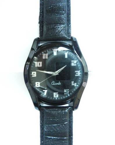ALLOY BLACK CASE WRIST WATCH
