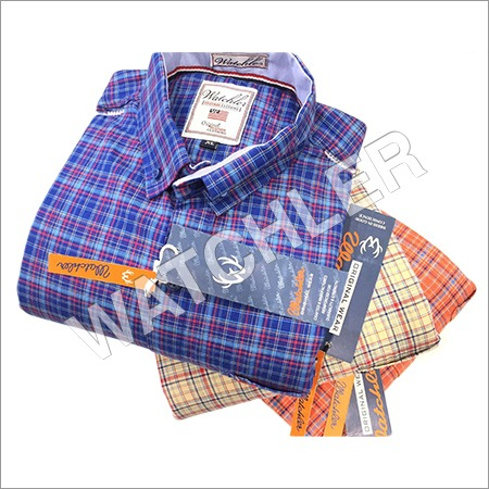 Cotton Twill Checks Shirts