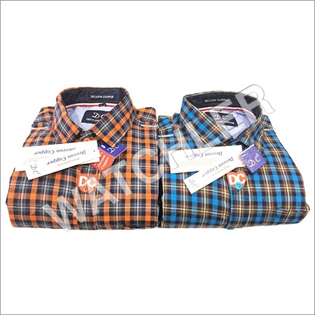 Mens Party Wear Checks Shirt