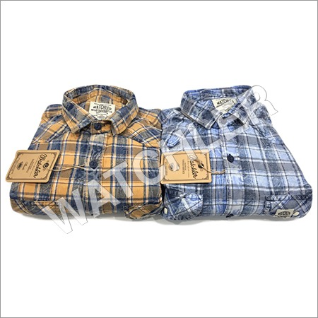 Pigment Indigo Cargo Checks Shirt