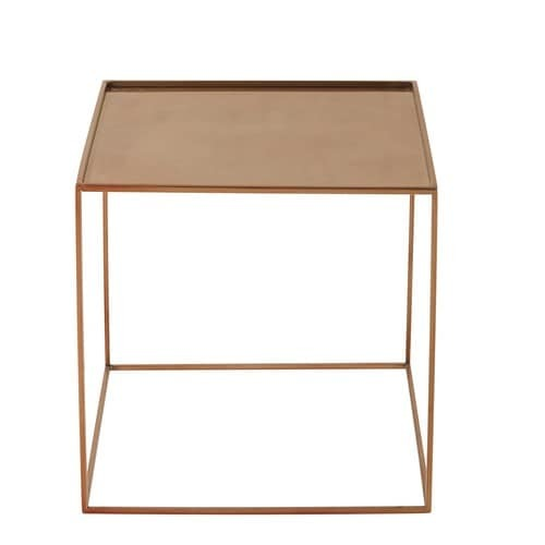 Coffee Table With Copper Finish