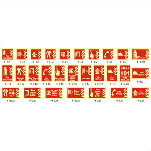 Fire Fighting Equipment Signs