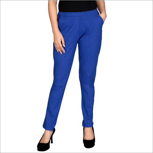 Ladies Blue Plain Lower