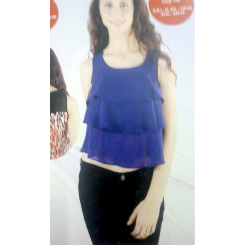 Ladies Blue Designer Top