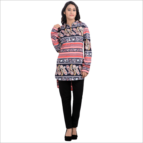 Ladies Printed Full Sleeve Top