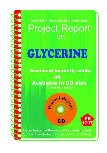 Glycerine manufacturing Project Report eBook