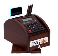 REVOLVING PEN STAND WITH CALCULATOR