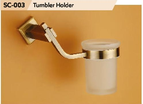 Chrome Finish Brass Tumbler Holder