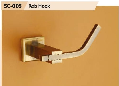 Chrome Finish Brass Robe Hook