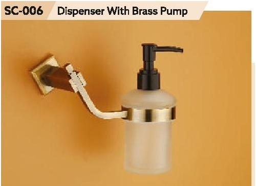 Chrome Finish Brass Liquid Dispenser