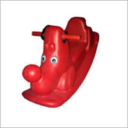 Kids Horse Plastic Rock Double Toy