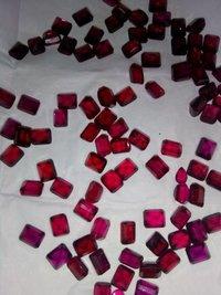 Red imitation stone