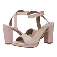 Nude Pink High Tie Up Sandals