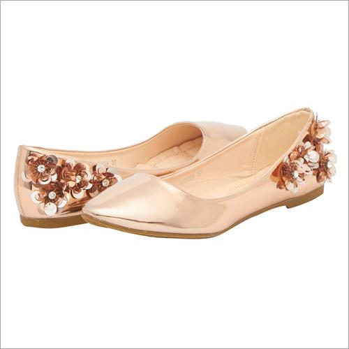 Rose Gold Fashion Fiesta Ballerinas
