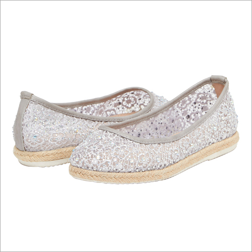 Shimmering Silver Ballerinas