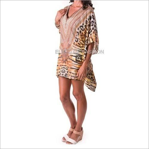 Fancy Digital Embellished Trendy Kaftan