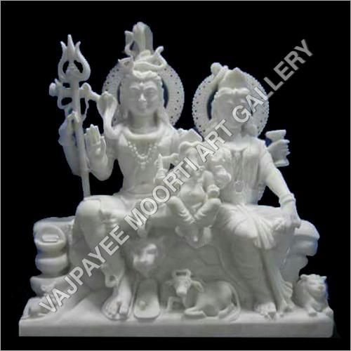 Shiva Parwati Ganesha Statue